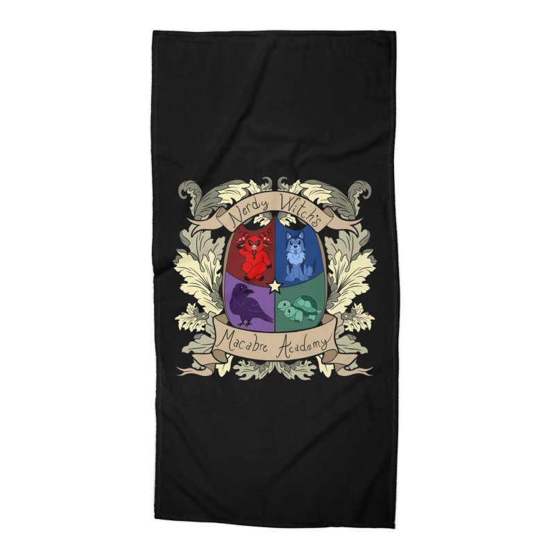 The Macabre Academy Crest Accessories Beach Towel by theMacabreAcademy's Artist Shop