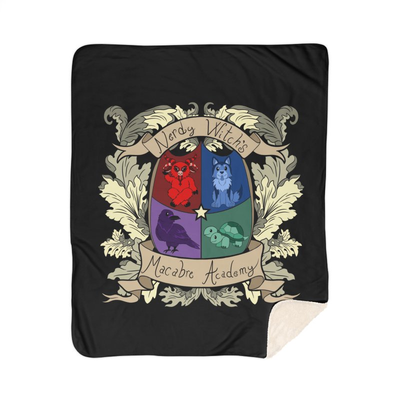 The Macabre Academy Crest Home Blanket by theMacabreAcademy's Artist Shop