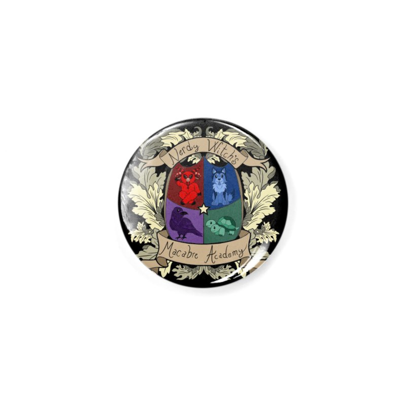 The Macabre Academy Crest Accessories Button by theMacabreAcademy's Artist Shop
