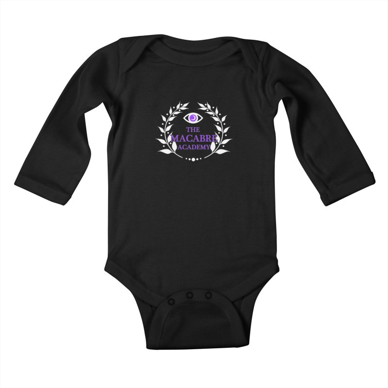 The Macabre Academy Logo Kids Baby Longsleeve Bodysuit by theMacabreAcademy's Artist Shop