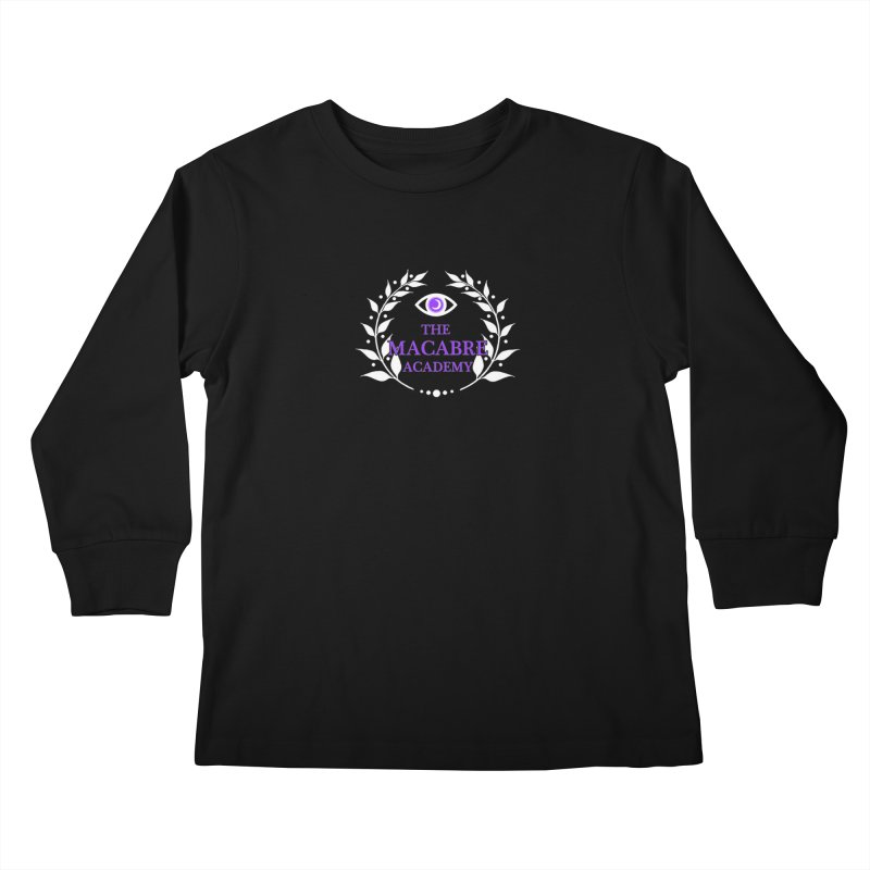 The Macabre Academy Logo Kids Longsleeve T-Shirt by theMacabreAcademy's Artist Shop