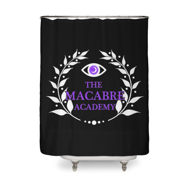 The Macabre Academy Logo Home Shower Curtain by theMacabreAcademy's Artist Shop
