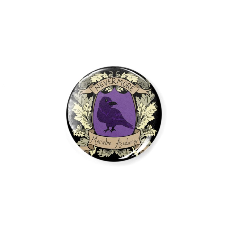 House Nevermore Accessories Button by theMacabreAcademy's Artist Shop