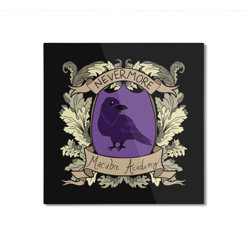 House Nevermore Home Mounted Aluminum Print by theMacabreAcademy's Artist Shop