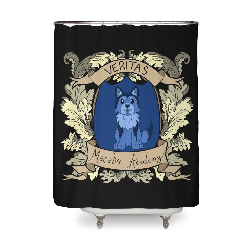 House Veritas Home Shower Curtain by theMacabreAcademy's Artist Shop