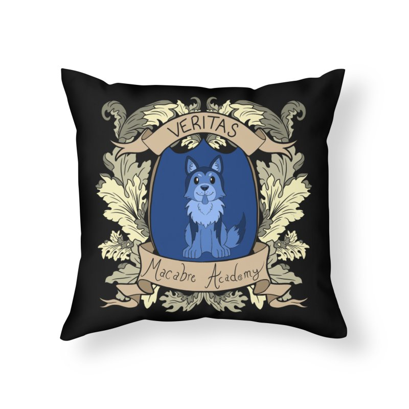 House Veritas Home Throw Pillow by theMacabreAcademy's Artist Shop
