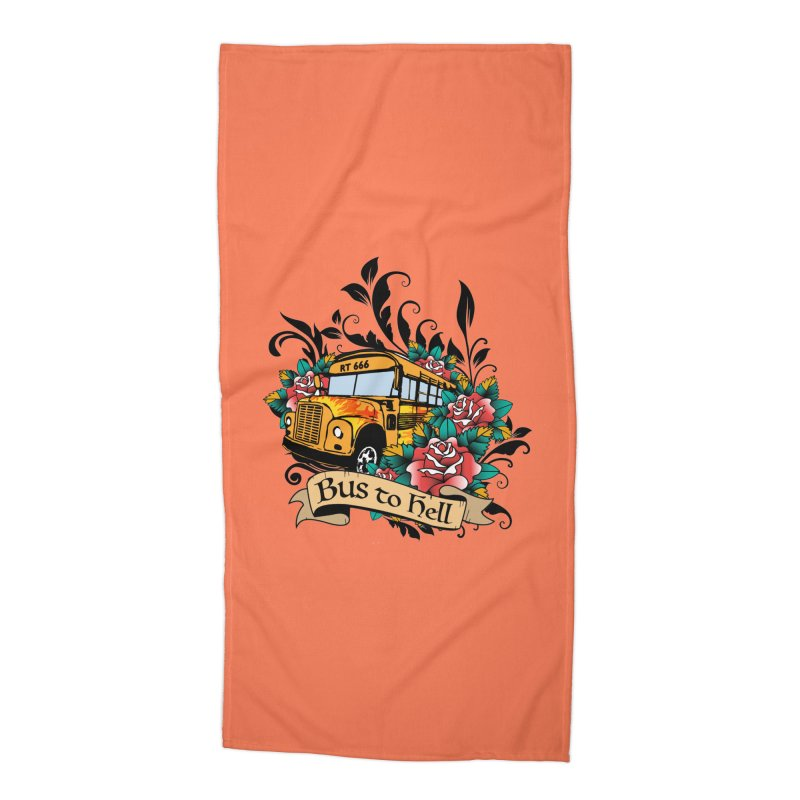 Brandi's Bus to Hell Accessories Beach Towel by theMacabreAcademy's Artist Shop