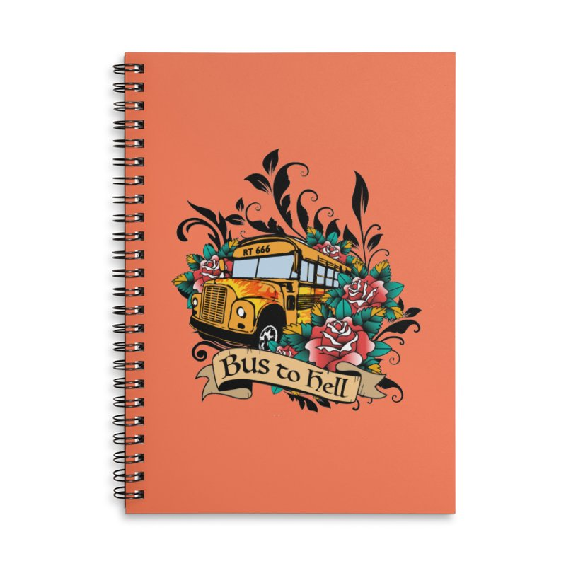 Brandi's Bus to Hell Accessories Notebook by theMacabreAcademy's Artist Shop