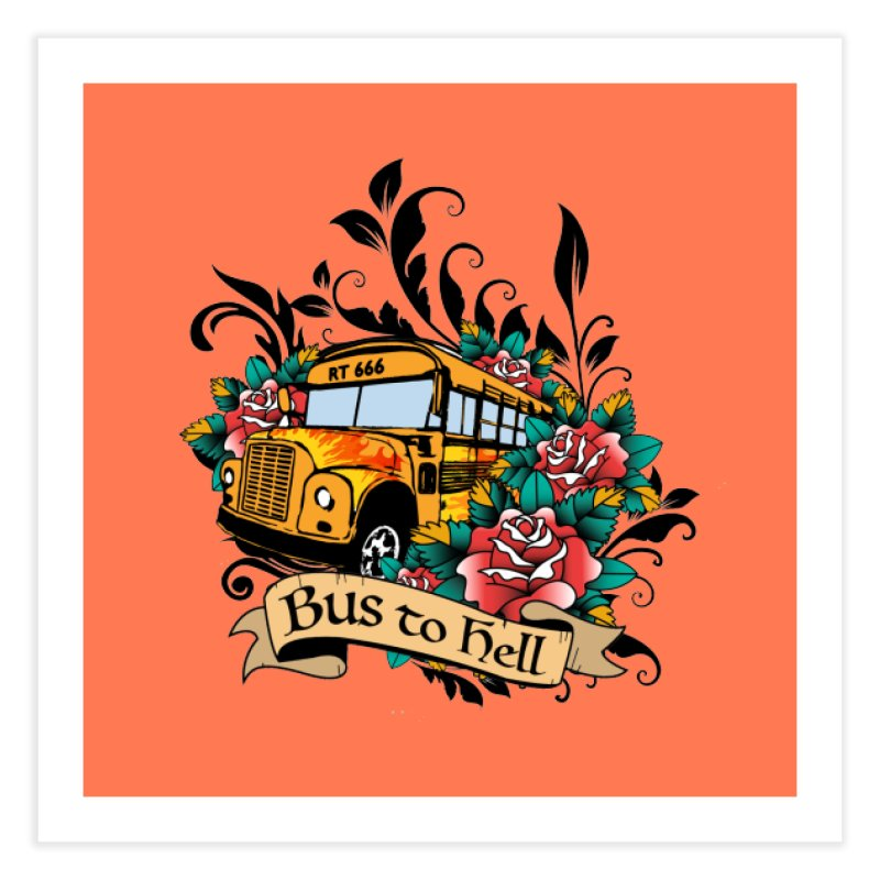 Brandi's Bus to Hell Home Fine Art Print by theMacabreAcademy's Artist Shop