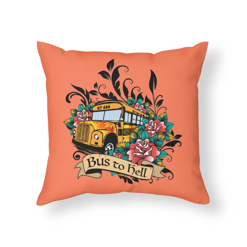 Brandi's Bus to Hell Home Throw Pillow by theMacabreAcademy's Artist Shop