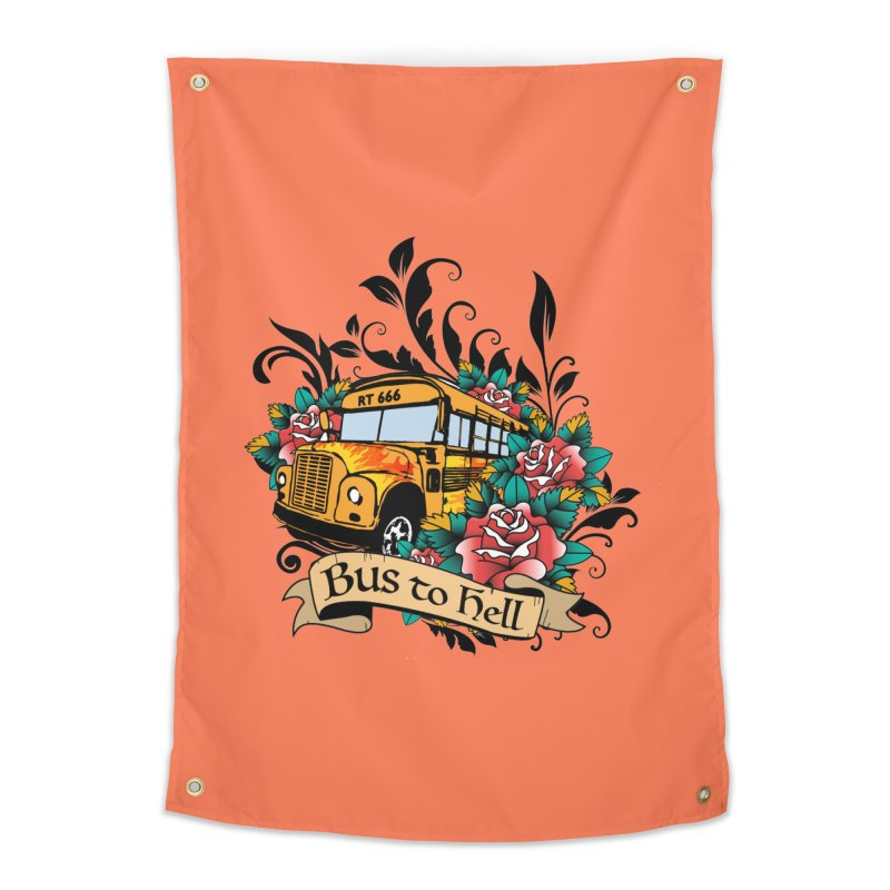 Brandi's Bus to Hell Home Tapestry by theMacabreAcademy's Artist Shop