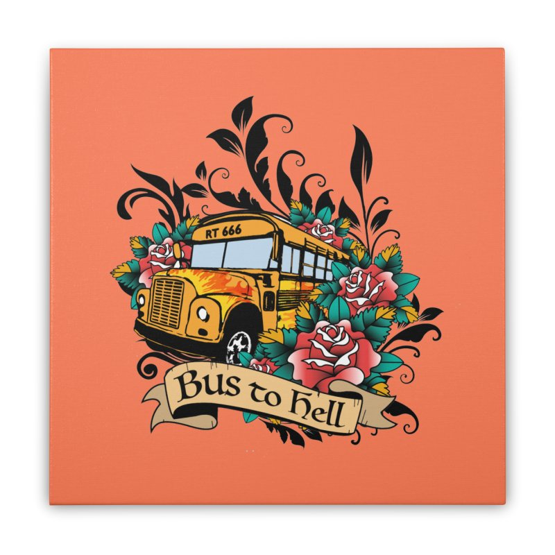 Brandi's Bus to Hell Home Stretched Canvas by theMacabreAcademy's Artist Shop