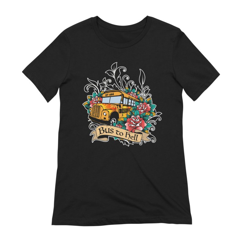Brandi's Bus to Hell Women's T-Shirt by theMacabreAcademy's Artist Shop