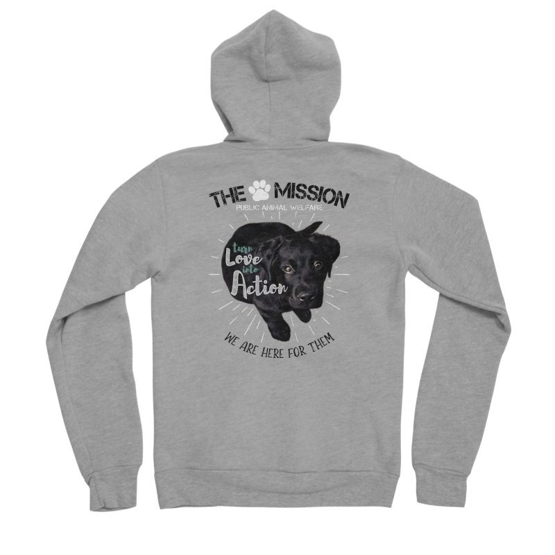 Turn Love into Action Men's Sponge Fleece Zip-Up Hoody by The PAW Mission