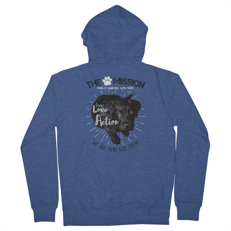 Turn Love into Action Men's French Terry Zip-Up Hoody by The PAW Mission