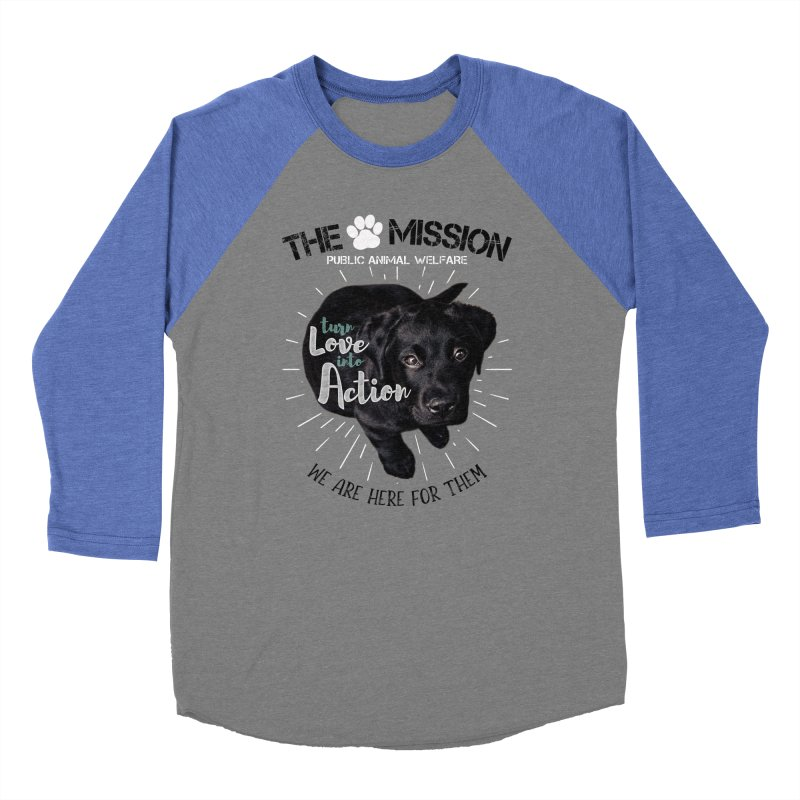 Turn Love into Action Men's Baseball Triblend Longsleeve T-Shirt by The PAW Mission