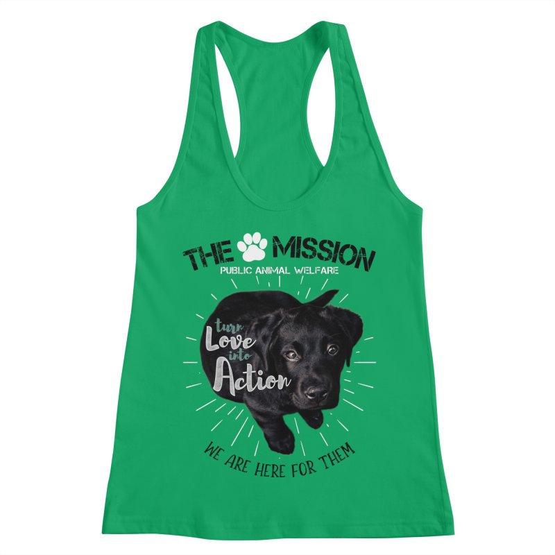 Turn Love into Action Women's Tank by The PAW Mission