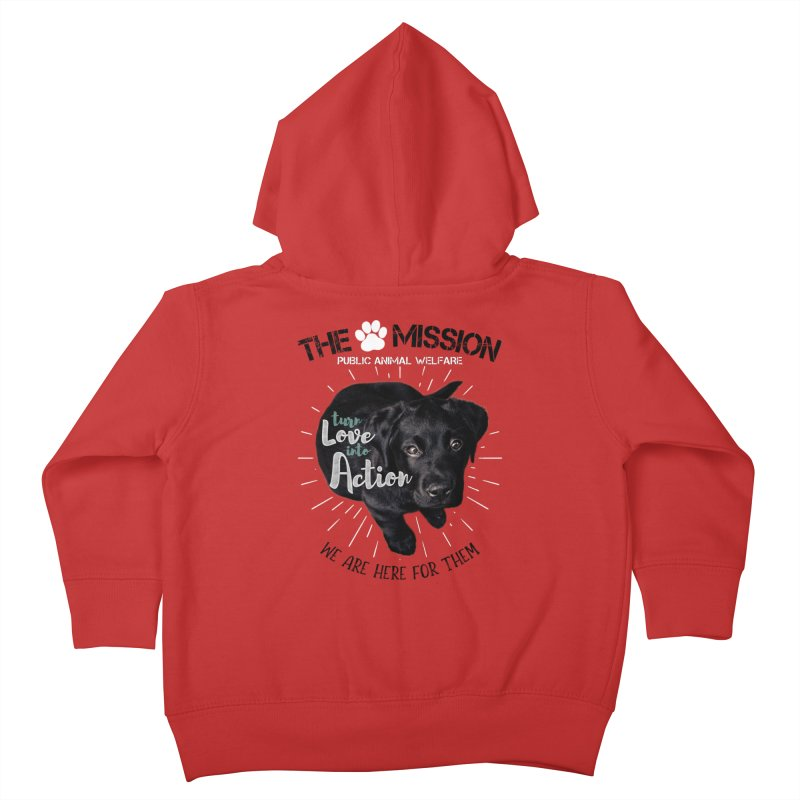 Turn Love into Action Kids Toddler Zip-Up Hoody by The PAW Mission