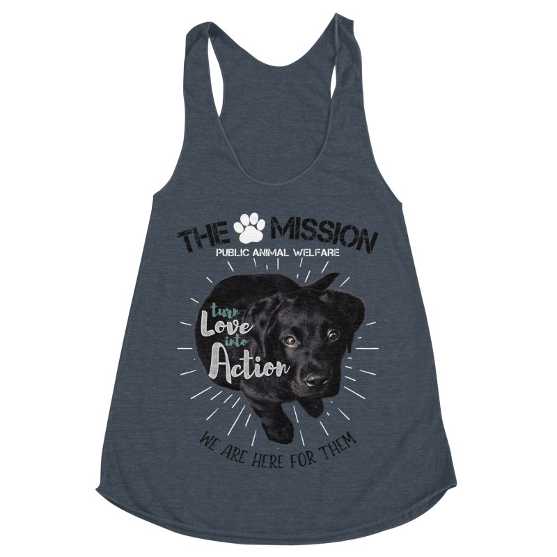 Turn Love into Action Women's Racerback Triblend Tank by The PAW Mission