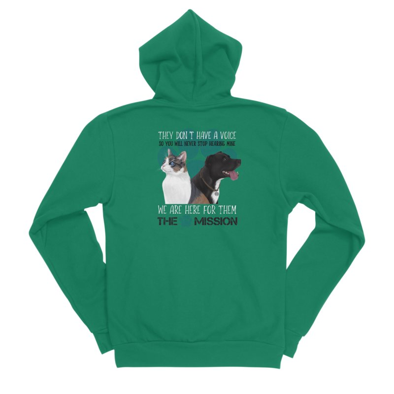 Hear My Voice Women's Zip-Up Hoody by The PAW Mission