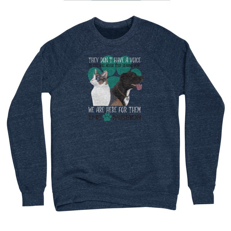 Hear My Voice Men's Sponge Fleece Sweatshirt by The PAW Mission