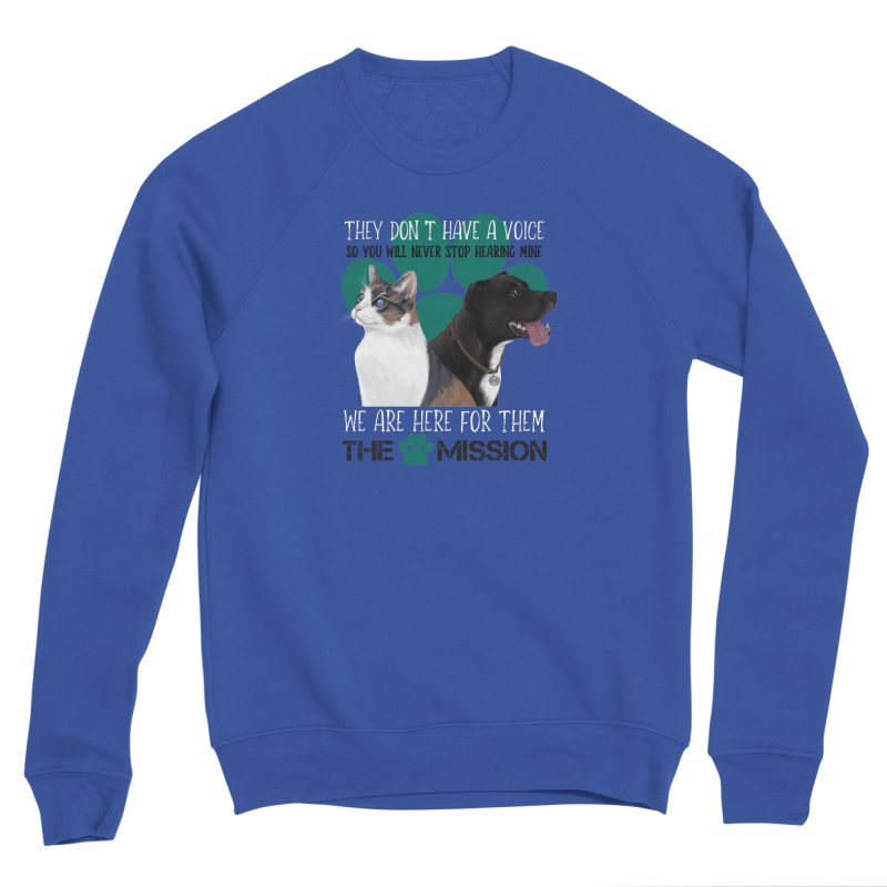 Hear My Voice Men's Sponge Fleece Sweatshirt by The PAW Mission