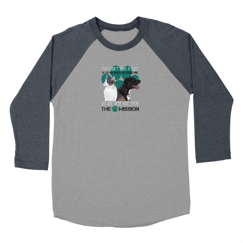 Hear My Voice Women's Baseball Triblend Longsleeve T-Shirt by The PAW Mission