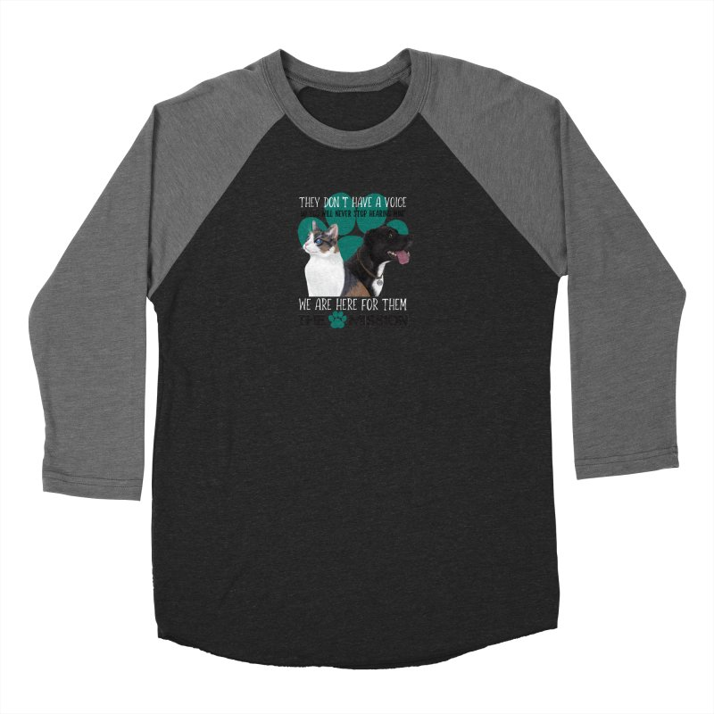 Hear My Voice Men's Baseball Triblend Longsleeve T-Shirt by The PAW Mission