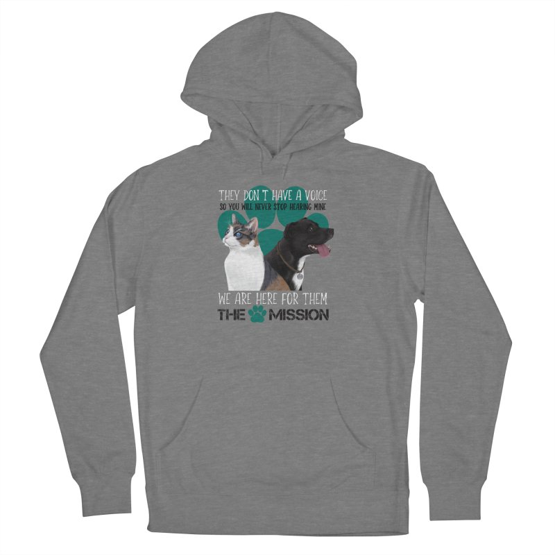 Hear My Voice Women's French Terry Pullover Hoody by The PAW Mission