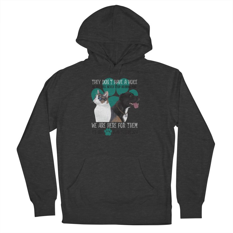 Hear My Voice Men's French Terry Pullover Hoody by The PAW Mission