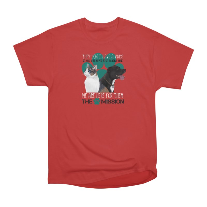 Hear My Voice Men's Heavyweight T-Shirt by The PAW Mission