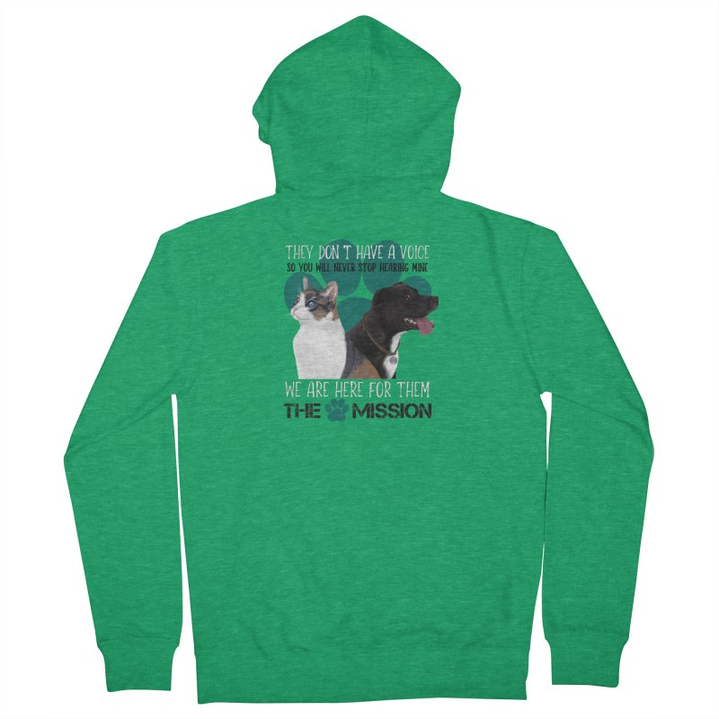 Hear My Voice Men's Zip-Up Hoody by The PAW Mission