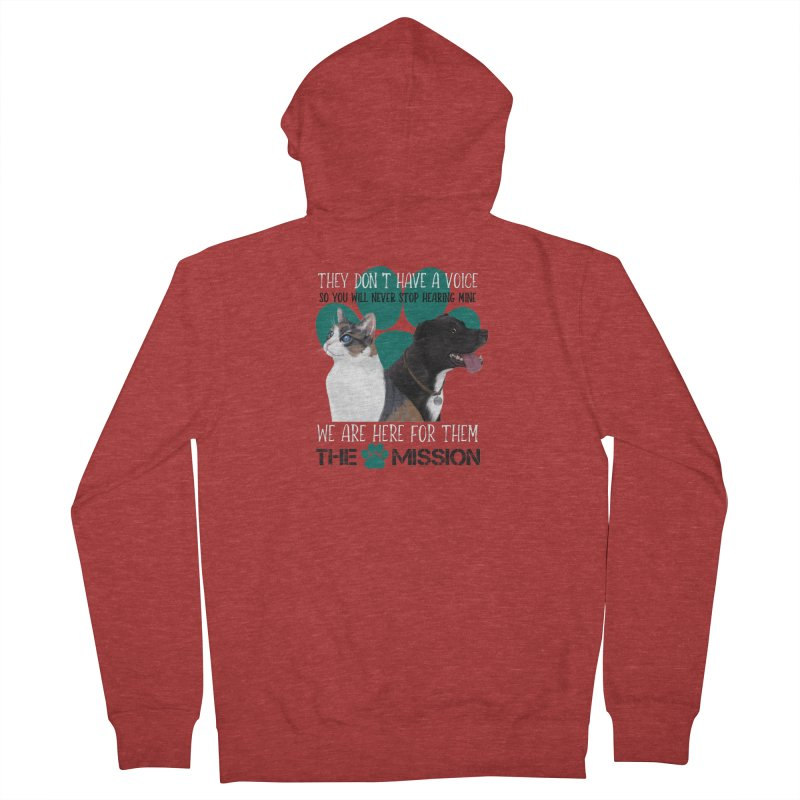 Hear My Voice Men's French Terry Zip-Up Hoody by The PAW Mission