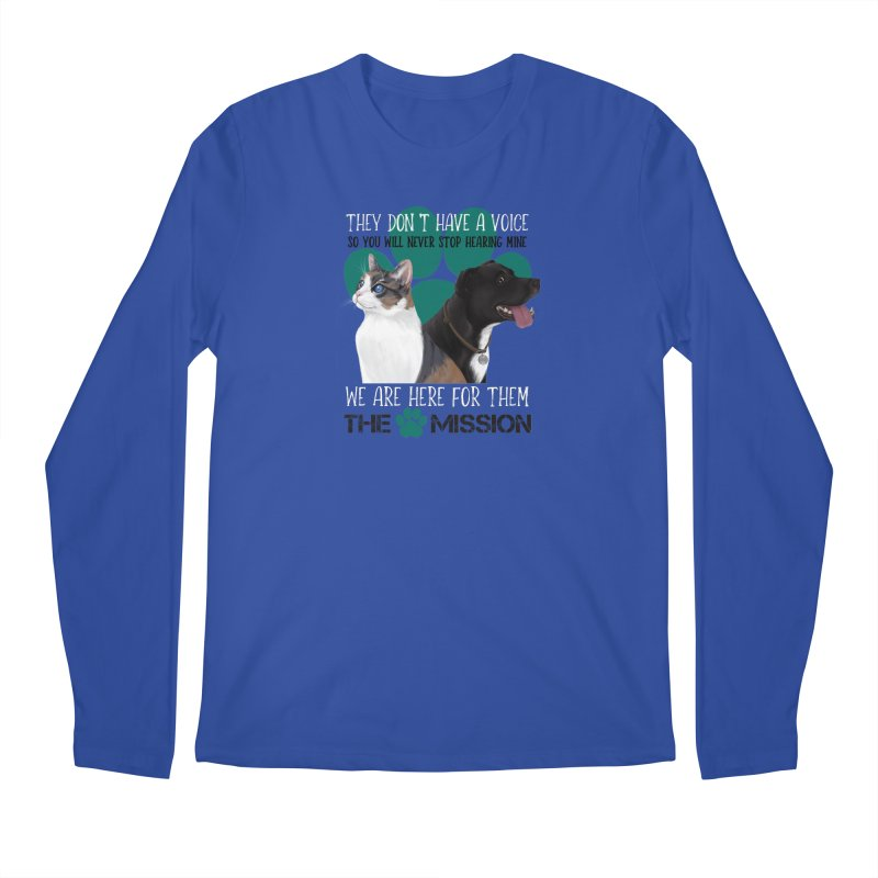 Hear My Voice Men's Regular Longsleeve T-Shirt by The PAW Mission