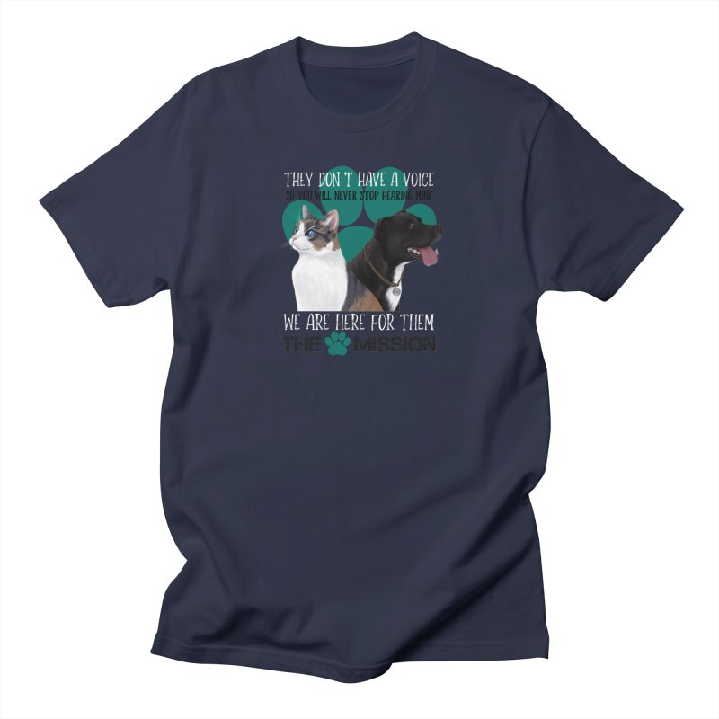Hear My Voice Men's Regular T-Shirt by The PAW Mission