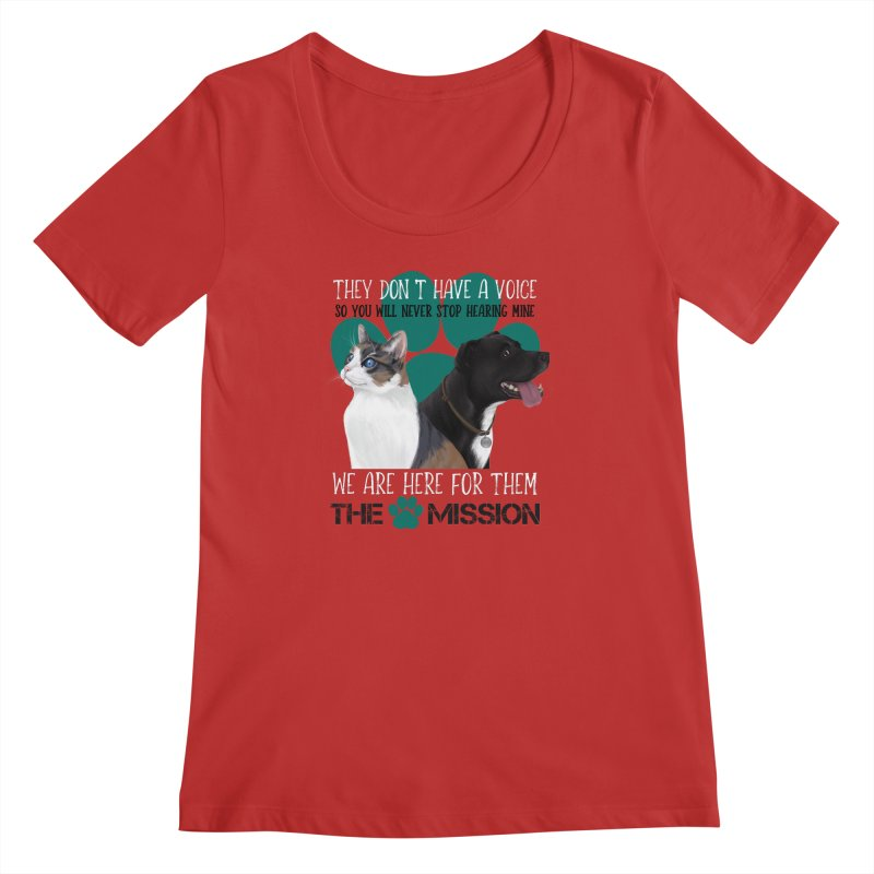 Hear My Voice Women's Regular Scoop Neck by The PAW Mission