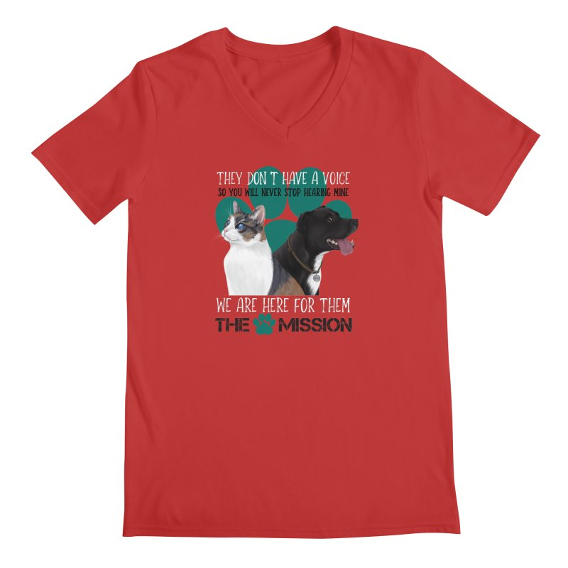 Hear My Voice Men's Regular V-Neck by The PAW Mission