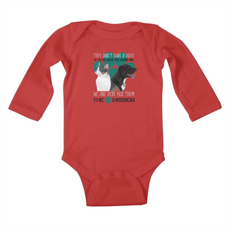 Hear My Voice Kids Baby Longsleeve Bodysuit by The PAW Mission