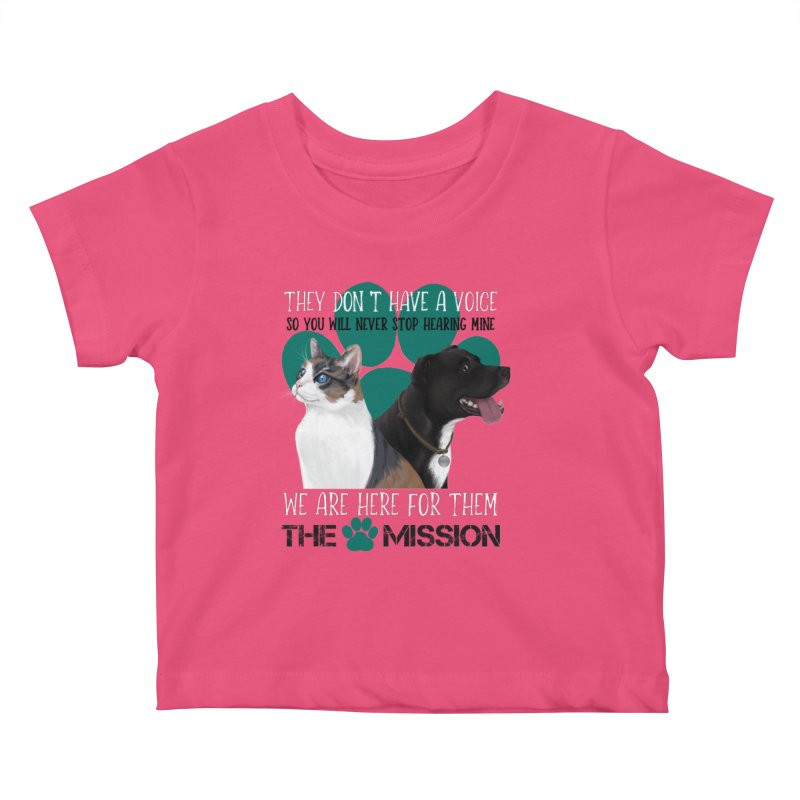 Hear My Voice Kids Baby T-Shirt by The PAW Mission