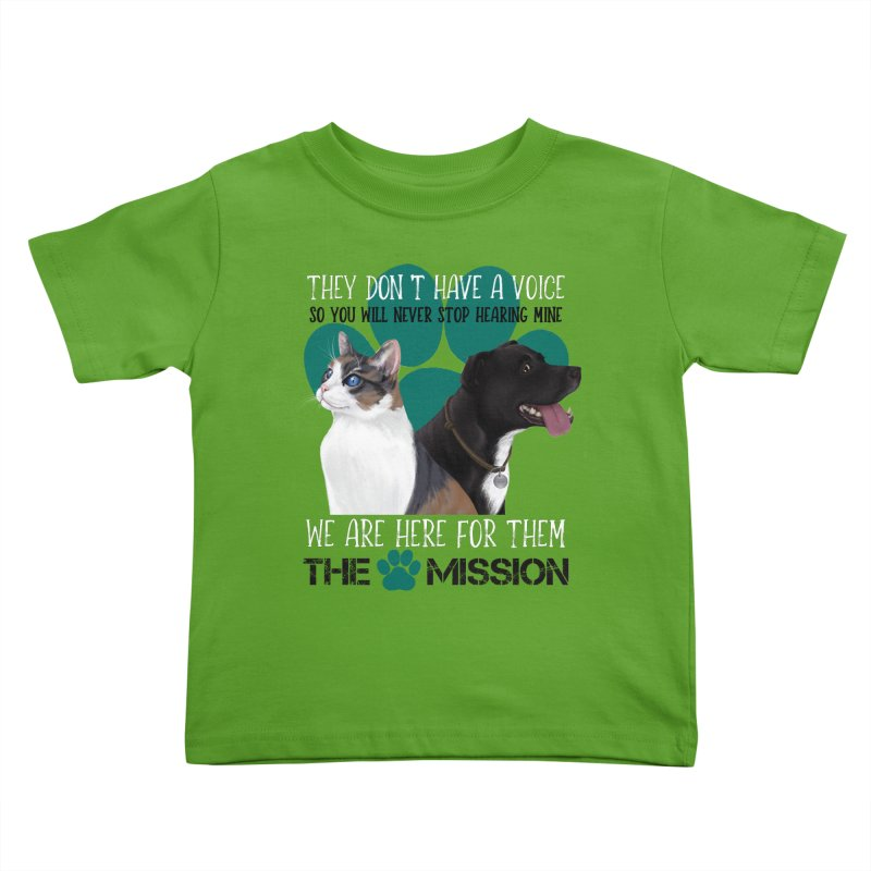 Hear My Voice Kids Toddler T-Shirt by The PAW Mission