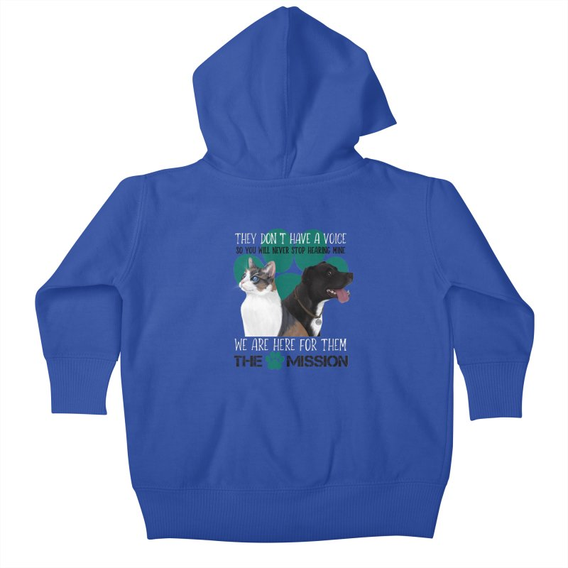 Hear My Voice Kids Baby Zip-Up Hoody by The PAW Mission