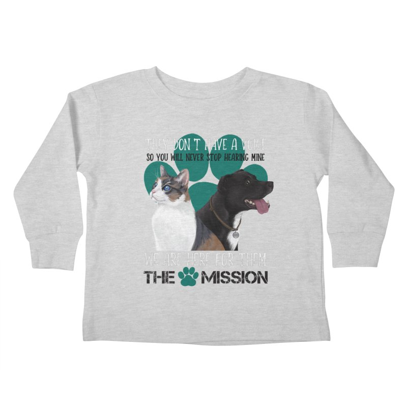 Hear My Voice Kids Toddler Longsleeve T-Shirt by The PAW Mission
