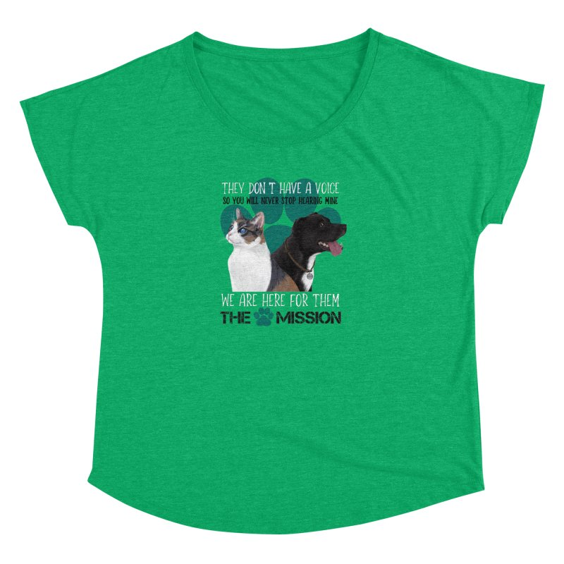 Hear My Voice Women's Dolman Scoop Neck by The PAW Mission