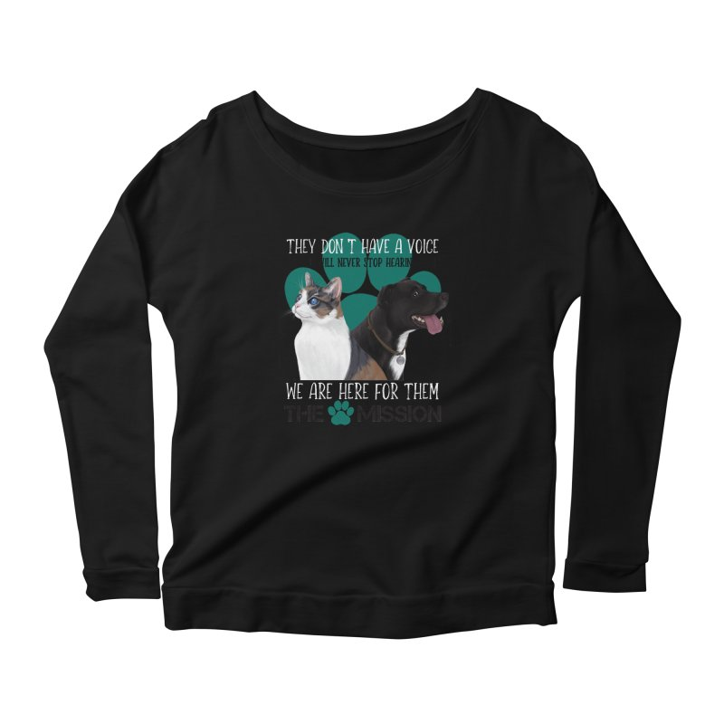 Hear My Voice Women's Scoop Neck Longsleeve T-Shirt by The PAW Mission