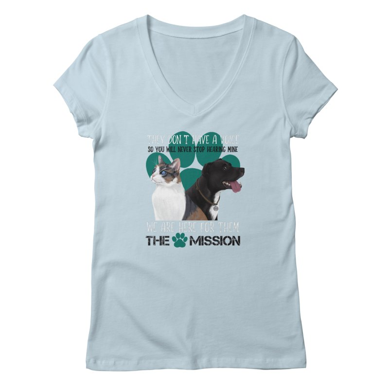 Hear My Voice Women's Regular V-Neck by The PAW Mission