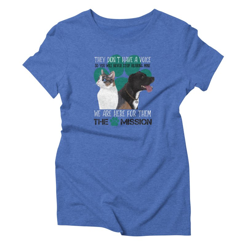 Hear My Voice Women's Triblend T-Shirt by The PAW Mission
