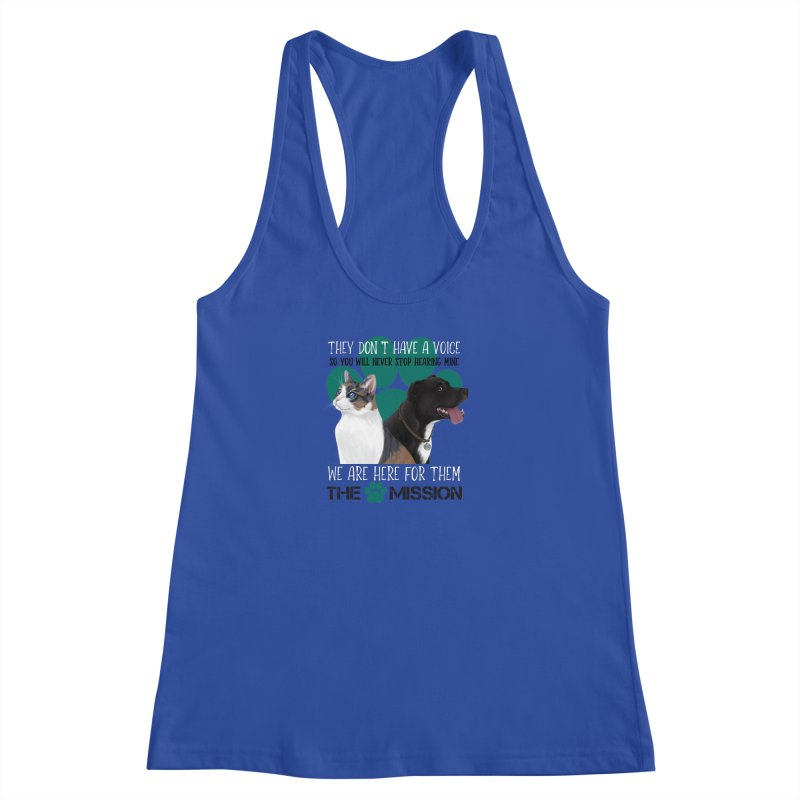 Hear My Voice Women's Racerback Tank by The PAW Mission