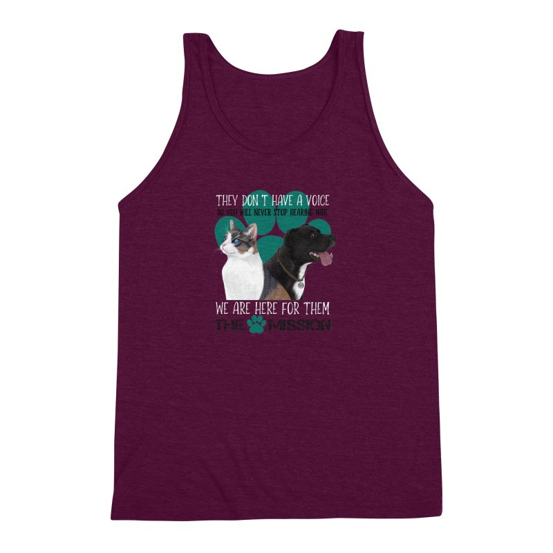 Hear My Voice Men's Triblend Tank by The PAW Mission