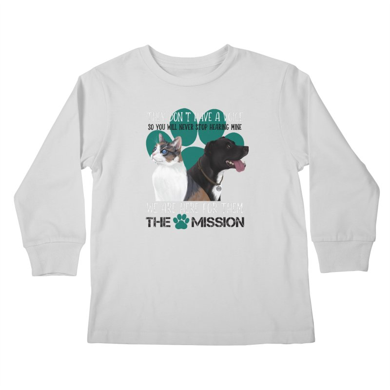 Hear My Voice Kids Longsleeve T-Shirt by The PAW Mission