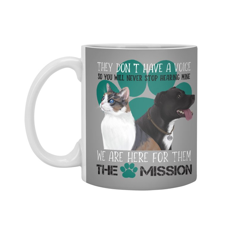 Hear My Voice Accessories Standard Mug by The PAW Mission